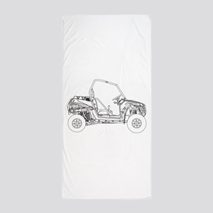 Side X Side Drawing Beach Towel